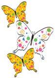 Pinte las mariposas de la salpicadura Imagenes de archivo