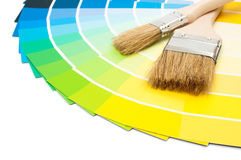 Pinte las muestras del color foto de archivo