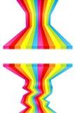 Pinte las rayas coloreadas de la pared Imagen de archivo libre de regalías