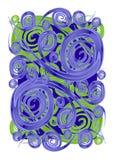 Pinte las texturas de los espirales de los remolinos Foto de archivo libre de regalías