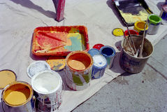 Pinte latas Imagens de Stock