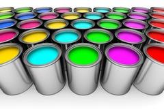Pinte latas Fotos de Stock Royalty Free