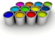 Pinte latas Fotografia de Stock Royalty Free