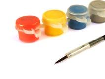 Pinte latas e escove-as Imagens de Stock Royalty Free