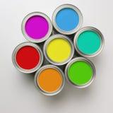 Pinte latas em um círculo Imagem de Stock Royalty Free