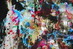 Pinte los colores borrosos cerosos hipnóticos vivos, contrastes, fondo creativo ceroso Imágenes de archivo libres de regalías