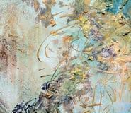 Pinte los colores de oro del grunge verde orgánico del vintage, movimientos del cepillo, fondo orgánico de la persona hipnotizada foto de archivo libre de regalías