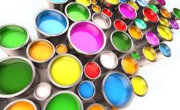 Pinte los compartimientos Foto de archivo libre de regalías
