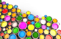Pinte los cubos Imágenes de archivo libres de regalías
