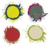 Pinte los marcos del chapoteo Imagen de archivo libre de regalías