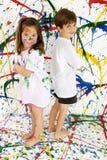 Pinte a los niños Imagen de archivo libre de regalías
