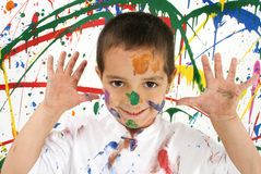 Pinte a los niños imagenes de archivo