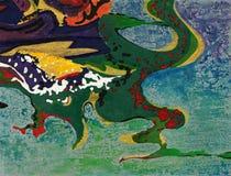 Pinte los remolinos Fotografía de archivo libre de regalías