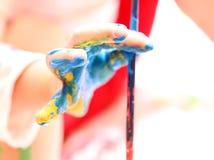 Pinte a mão Imagens de Stock