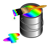 Pinte-me um arco-íris Fotos de Stock Royalty Free