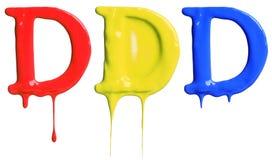 Pinte o alfabeto do gotejamento Foto de Stock Royalty Free