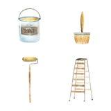 Pinte o grupo de ferramentas Fotos de Stock
