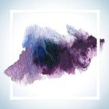 Pinte o projeto da quadriculação do cartão da mancha O molde do cartaz do curso da aquarela text fot a rotulação ou o provérbio i Fotos de Stock