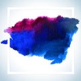 Pinte o projeto da quadriculação do cartão da mancha O molde do cartaz do curso da aquarela text fot a rotulação ou o provérbio i Imagens de Stock