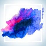 Pinte o projeto da quadriculação do cartão da mancha O molde do cartaz do curso da aquarela text fot a rotulação ou o provérbio i Imagens de Stock Royalty Free
