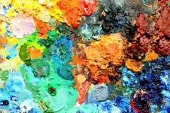 Pinte o relevo Imagens de Stock