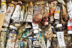 Pinte opiniões do pallete em torno da ilha das Caraíbas de Curaçau Foto de Stock Royalty Free