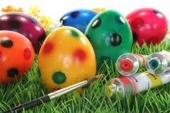 Pinte ovos de Easter Imagem de Stock Royalty Free