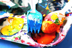 Pinte a paleta Fotografia de Stock