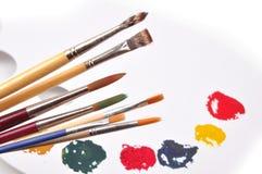 Pinte a paleta Fotos de Stock Royalty Free