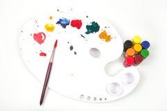 Pinte a paleta Imagem de Stock