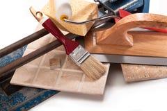 Pinte paredes e telhas pegajosas Imagens de Stock