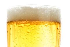 pinte proche de bière vers le haut Image stock