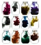 Pinte remolinar en agua Fotos de archivo libres de regalías