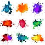 Pinte splats ilustração stock