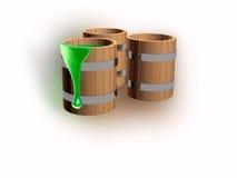 Pinte tambores Fotografia de Stock Royalty Free