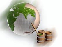 Pinte tambores e terra Imagem de Stock Royalty Free