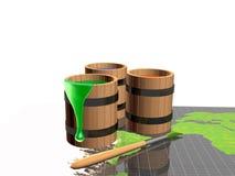 Pinte tambores e trace-os Fotos de Stock