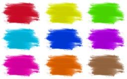 Pinte um grupo de cores de 9 ilustração stock