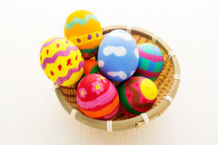 Pinted colourful easter egg Stock Photography