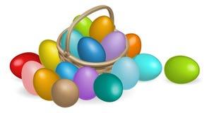 Pinted eggs la ilustración de la cesta Imágenes de archivo libres de regalías