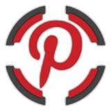 Pinterest button. Pinterest color button for site or IT projects. Transparent PNG. Social media buttons vector illustration