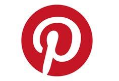 Pinterest Social Media Logo. Vector format available illustrator AI stock illustration