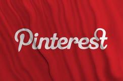 Pinterestvlag royalty-vrije illustratie
