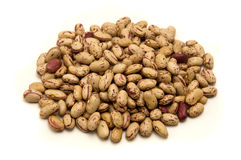 Pinto beans. On a white background Royalty Free Stock Photography