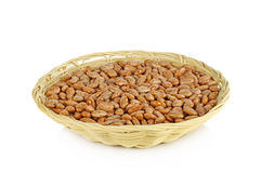 Pinto beans in  basket isolated on a white background Stock Image