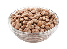 Pinto Beans in a Glass Bowl Stock Photos
