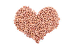 Pinto beans in a heart shape Royalty Free Stock Images