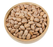 Pinto beans isolated on a white Royalty Free Stock Photo