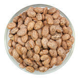 Pinto beans isolated on a white Stock Images