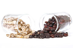 Falling beans Royalty Free Stock Photo
